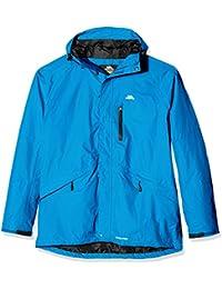 Trespass Corvo Jacket, Cobalt, L, Waterproof Jacket for Men, Large, Blue