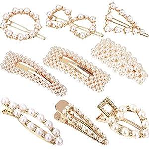 9 Stücke Künstliche Perle Haarnadeln Haarspangen Dekorative Braut Haarspangen Handmade Haarschmuck für Damen