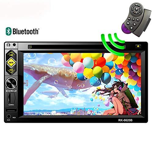 Erfordert Hd-dvd-player (LYXLQ Auto-DVD-Player, Freisprecheinrichtung Bluetooth HD 6,2' Touch großen Bildschirm 7 Hintergrund Farbanpassung Auto DVD/CD-Navigationsmaschine MP5-Player)