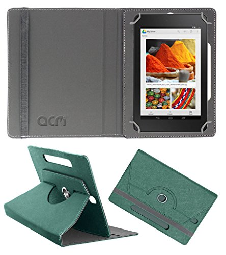 Acm Designer Rotating Leather Flip Case for Dell Venue Cellular 7 Cover Stand Turquoise  available at amazon for Rs.169