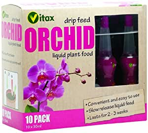 Vitax 30ml Orchid Drip Feed Mini Bottles (Pack of 10)
