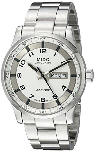 Mido Herren-Armbanduhr XL Multifort Analog Automatik Edelstahl M0054301103280