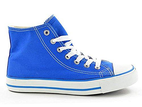 Foster Footwear ,  Mädchen Jungen Unisex Kinder Kurzschaft Stiefel Hi-Top Royal Blue