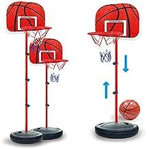 fecb98fd6afad MRKE 63-150CM Réglable Panier de Basket Enfant pour Interieur Exterieur  avec Balle et Gonfleur