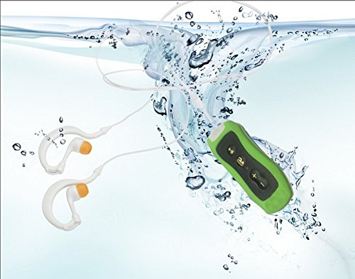 Eplze Neu IPX8 wasserdicht 4GB MP3 Digitalmusik-Player mit FM (Grün)