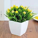 LXFLY Haute qualité Main Solide Bois Pot en Plastique Artificielle Fleur Arrangement...