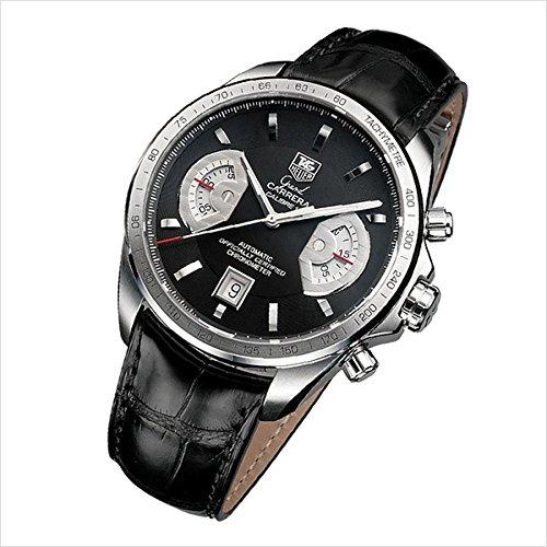 TAG Heuer CAV511A.FC6225 - Reloj para hombres, correa de cuero color negro