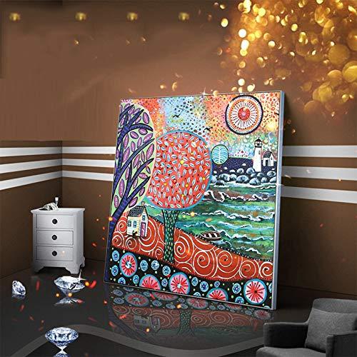 Nordic Wohnzimmer Inkjet Dekorative Gemälde Home Sofa Hintergrund Wandaufkleber Diamanten Reichtum Safran Wandbilder Ps: 40 * 40 - Chanel Diamant