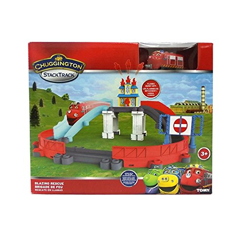 Image of Chuggington Blazing Rescue Train Track