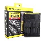 Nitecore New i4 Intellicharge Ladegerät für Li-Ion/IMR/NI-MH/NI-CD 26650 22650 18650 18490 18350 17670 17500 17335 16340 RCR123 14500 10440 AA AAA AAAA Batterien Akku