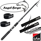 DAM Camaro Tele Spin Teleskoprute Spinnrute alle Modelle mit Angel Berger Rutenband (1,80m / 10-30g)