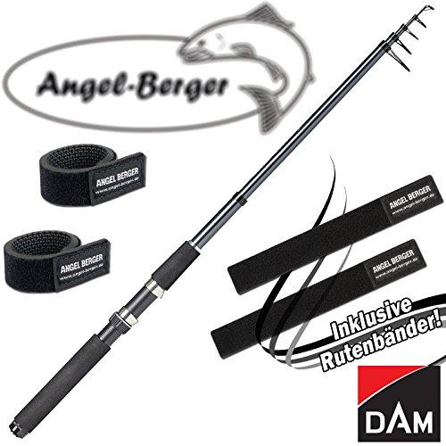 DAM Camaro Tele Spin Teleskoprute Spinnrute alle Modelle mit Angel Berger Rutenband (3,00m / 30-60g)