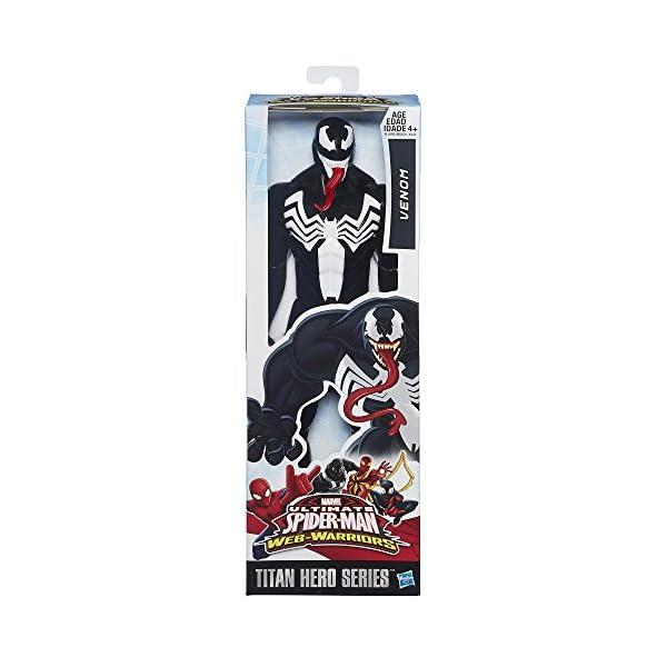 "Spider-Man Marvel Ultimate Titan Hero Series–Venom Figura, 12"" 2"
