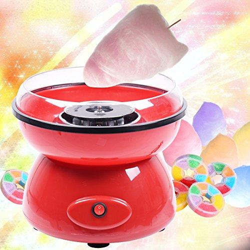COSTWAY Zuckerwattemaschine Zuckerwattegerät für Zuhause Zuckerwatte Maschine 500W Farbwahl (Rot)