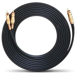 Oehlbach  20577 NF 1 Adaptateur Y RCA/2RCA Câble 7m Noir