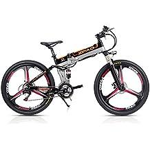 ZPAO 21 velocidades, 26 Pulgadas, 48V 10Ah, 350W, Bicicleta eléctrica Plegable,