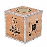 Original Teekiste aus Holz-Teekiste Vintage Teebox aus Übersee Holzteekiste - Maße 30x30x30