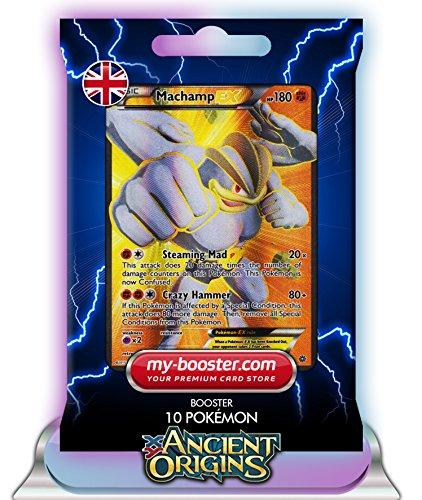 MACHAMP EX (Machomei) Full Art 90/98 180HP XY07 ANCIENT ORIGINS - Booster mit 10 Englische Karten Pokemon my-booster