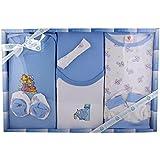 Baby Station Gift For New Born - 8 Pcs Set (Blue)