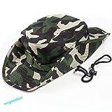 #6: Hunting Fishing Hiking Boonie Snap Brim Military Bucket Sun Hat Canvas Camo Cap