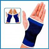 KECKTUS Elastic Hand Grip Support (Blue and Black)