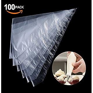 Aogolouk 100 Einweg Spritzbeutel Spritztüten für Spritztüllen Set (31CM)