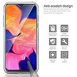 Leathlux Coque Samsung Galaxy A10 Transparente + Verre trempé Protection écran, Souple Silicone étui Protecteur Bumper Housse Clair TPU Gel Case Cover Coque pour Samsung Galaxy A10 6.2