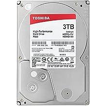 """TOSHIBA P300 Disco duro interno 3 TB – 3,5"""" (pulgadas) – Disco duro SATA (HDD) – 7200 RPM – 6 GB/s – Para juegos, ordenadores, equipos de escritorio, estaciones de trabajo y más"""