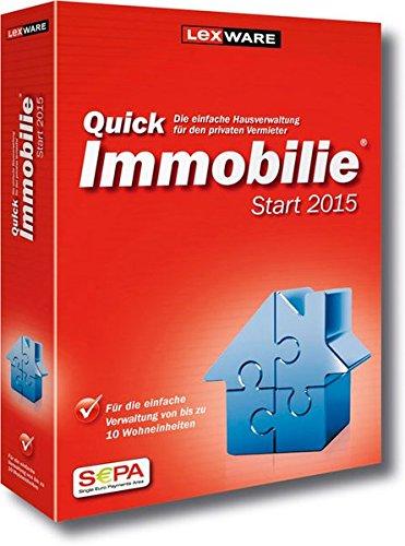 QuickImmobilie Start 2015, CD-ROM Für die einfache Vermietung von bis zu 10 Einheiten. Für Windows XP Home oder Professional ab SP2. Vista Home, Business oder Ultimate ab SP1 (jeweils deutsche Version). 7 (32bit). Windows 8