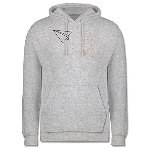 Symbole - Papierflieger - Männer Premium Kapuzenpullover / Hoodie Grau Meliert