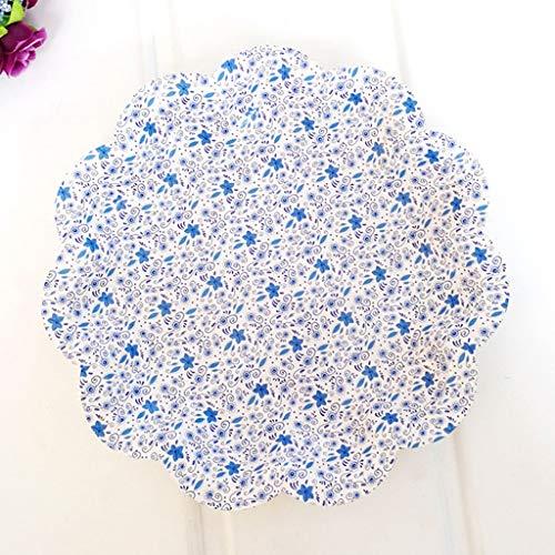 Li piccolo piatto- 40pcs rotondi piatti da dessert piatto da tavola di cibo piatto di posate da tavola di piatto di cibo da tavola usa e getta tableware (colore : b)