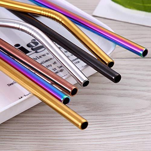 Edelstahlstroh 304 edelstahlstroh metallfarbe goldstroh kreativ zehn - pinsel 23cm_rosengold