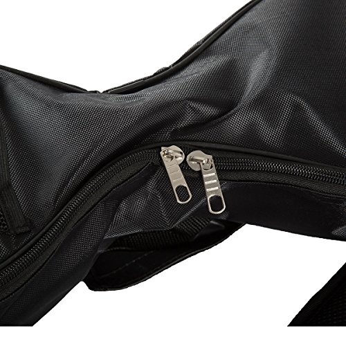 Wasserdichte Tragetasche Rucksack für 6,5 Zoll Zwei Räder Self Balancing Smart Elektroroller-Oxford Stoff mit gefüttert Schwarz