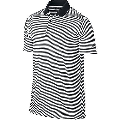 Nike Victory Mini Stripe–T-shirt polo à manches courtes de Golf pour homme M noir/blanc