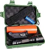 Led Atomant Kit lampe torche à LED Cree T6 originale, 1000 lm, étanche, 5 modes Flash, avec cône de traçage. Batterie au lithium rechargeable, chargeur et boîte, 10 W, blanc froid 6500 K