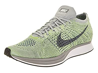 5562c483983bc Image Unavailable. Image not available for. Colour  Nike Unisex Flyknit  Racer White Cool Grey Ghost Green ...