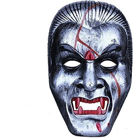 Divertente horror Halloween horror maschera fantasma spaventoso maschera viso tappi vampiro orrore maschera