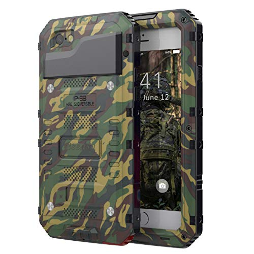 6a114aa514f Beeasy Case for iPhone 6 Plus / 6S Plus,Waterproof Heavy Duty Metal  Defender Cover