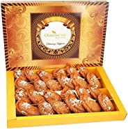 Ghasitaram Gifts Holi Sweets Healthy Wheat Gujiya Box (800 g)
