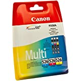 Canon CLI-526 Inkjet Cartridge Page Life 1349pp Cyan/Magenta/Yellow Multipack Ref 4541B006