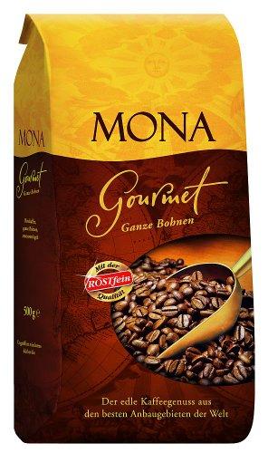 Röstfein Mona Gourmet Ganze Bohnen, 2er Pack (2 x 500 g Packung)