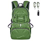 Gkeeny Lightweight Foldable Backpack 35L Ultralight Water Resistant Travel Hiking Camping Outdoor Rucksack Daypack [Green]