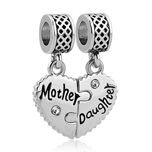 Uniqueen, ciondolo madre e figlia, con scritte in lingua inglese