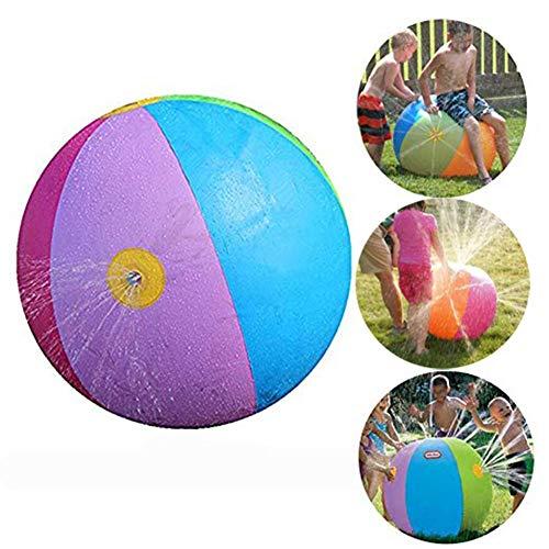 fblasbarer Sprinkler-Ball, PVC-Spray-Wasserball-Spielzeug für Kinder Erwachsener Spaß im Garten im Garten Hinterhof, Strandparty, Schwimmbad, 75cm ()