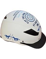 HV Polo–Casco de equitación MC lennan, color blanco, tamaño S (50-53)