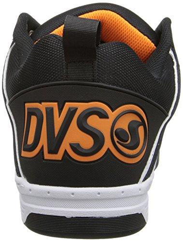 DVS - Comanche, Scarpe da Skateboard da Uomo Nero (black/white nubuck gunny)
