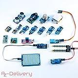 AZDelivery ⭐⭐⭐⭐⭐ 16 in 1 Kit Zubehörset mit Sensoren und Modulen mit gratis eBook für Raspberry Pi, Arduino
