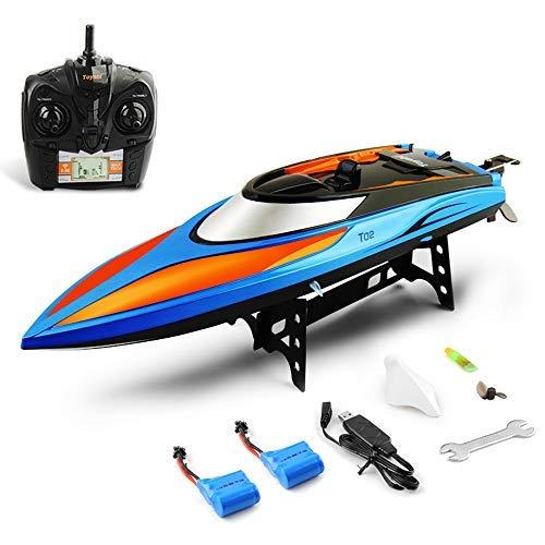 GizmoVine RC Boot Ferngesteuertes Boot 2,4GHz 30km/h Schnelle Geschwindigkeit Boot mit Kapsel Standard Funktion Fernbedienung Spielzeug für Kinder mit Extra Batterie