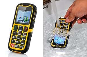 High-Tech Place Téléphone portable ultra résistant, Bluetooth, Bouton SOS