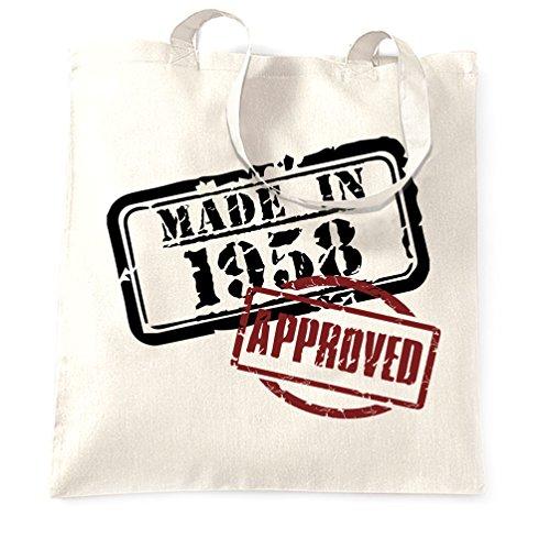 Borsa Per Il Trasporto Del Sessantesimo Compleanno Realizzata Nel 1958 Con Approvazione (design Distressed) [2018] Bianco